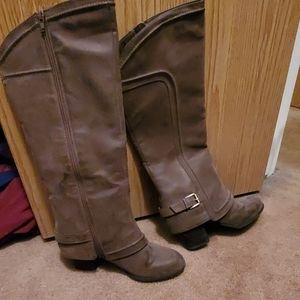 Fergalicious Boots taupe color
